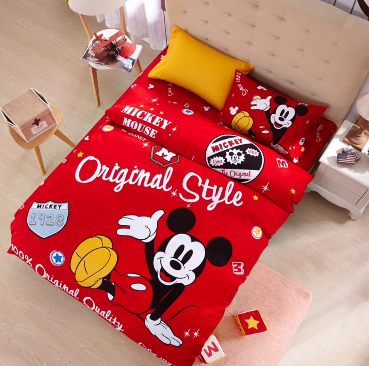 ผ้าปูที่นอน ลายมิคกี้เม้าส์ Mickey Mouse Bedding set