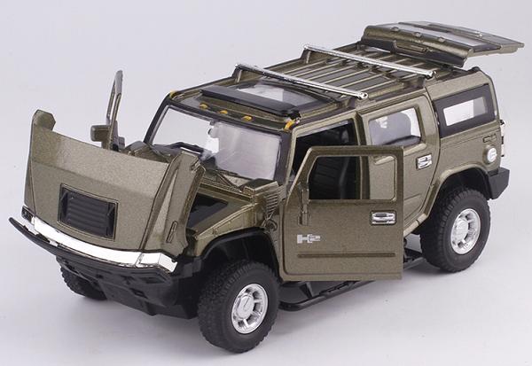 พร้อมส่ง รถโมเดล รถเหล็ก มีไฟมีเสียง Hummer H2 1:32 มี โปรโมชั่น