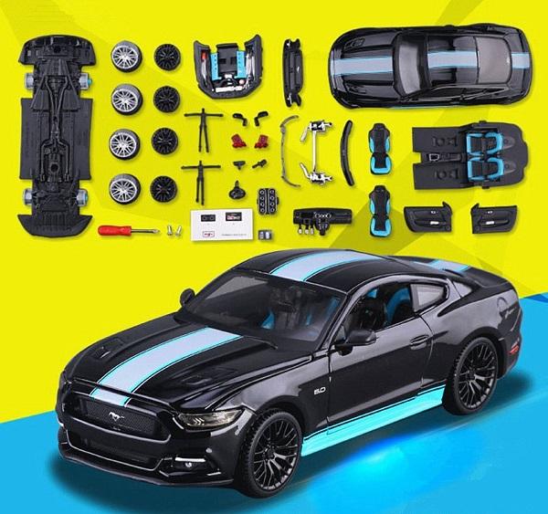 ขาย พรีออเดอร์ โมเดลรถเหล็ก โมเดลรถยนต์ ประกอบ Ford Mustang 2015 GT 1:24 สเกล มี โปรโมชั่น