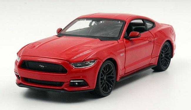 ขาย พรีออเดอร์ โมเดลรถเหล็ก Ford 2015 Mustang GT แดง 1:24 มีโปรโมชั่น