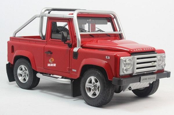 Pre Order โมเดลรถ Land Rover Defender SVX แดง 1:18 รุ่นหายากสุดๆ มีโปรโมชั่น สำเนา