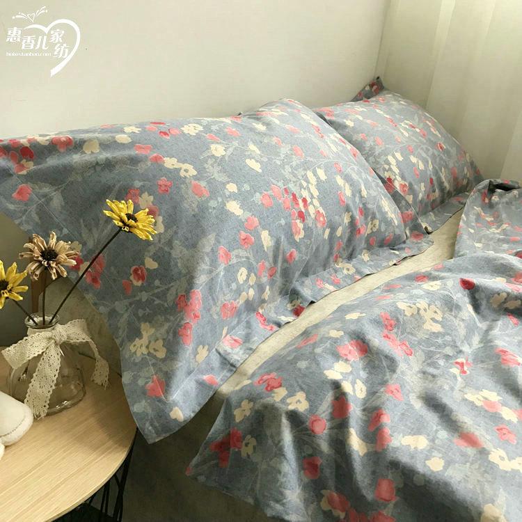 ผ้าปูที่นอนลายดอกไม้ สไตล์วินเทจ