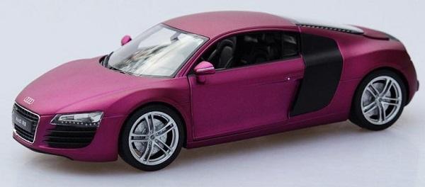 ขาย พรีออเดอร์ โมเดลรถเหล็ก โมเดลรถยนต์ Audi R8 ม่วง สเกล 1:24 มี โปรโมชั่น