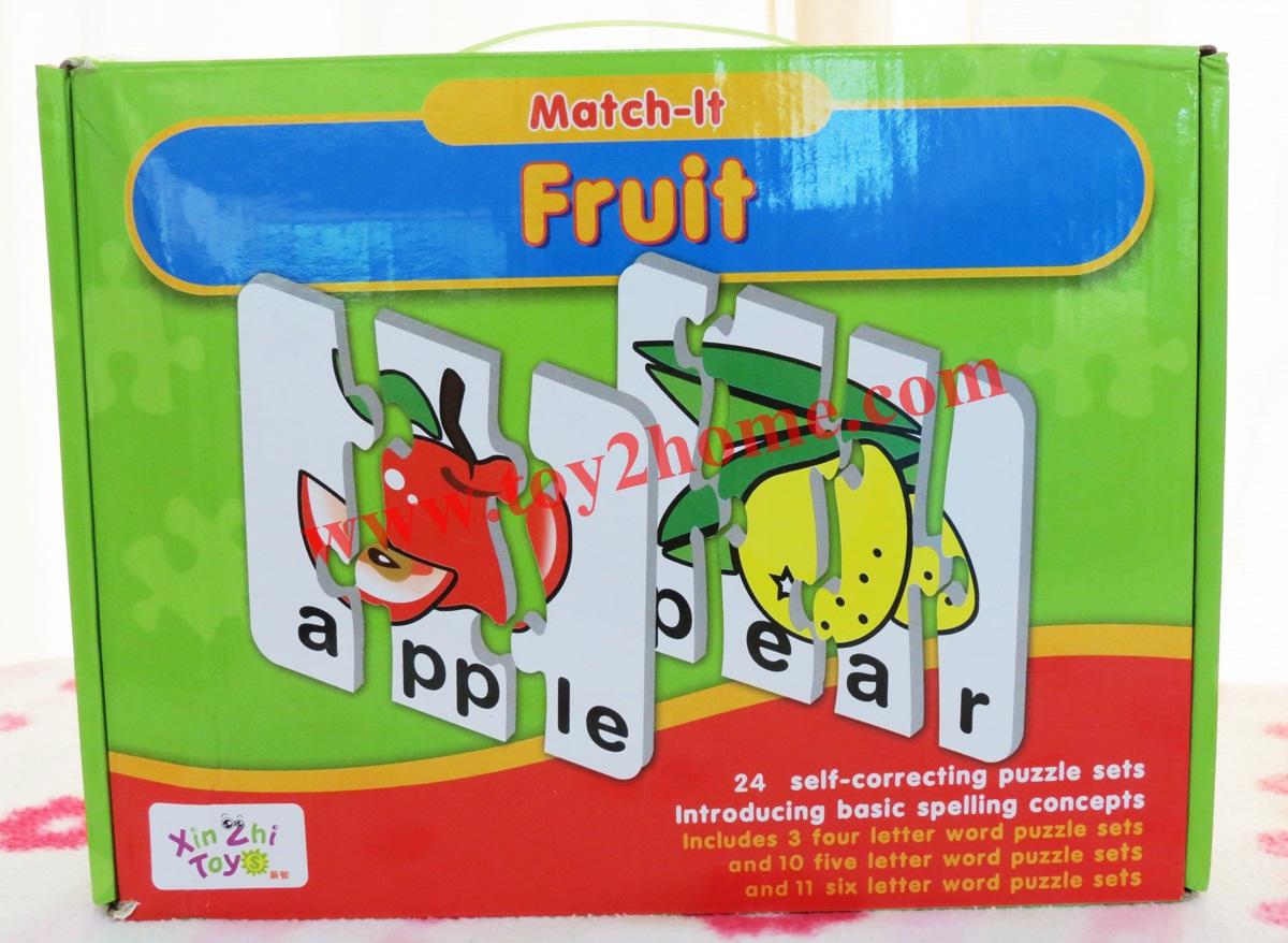 เกมส์จิ๊กซอร์การ์ดคำศัพท์ (หมวดผลไม้) 24 แผ่น