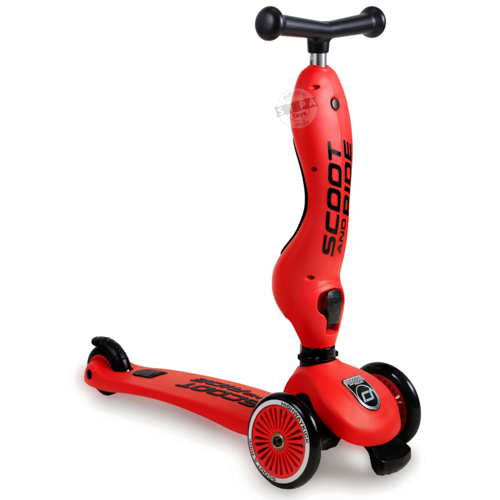 สกู๊ตเตอร์+จักรยานทรงตัว สีแดง(Scooter+Balance Bike) ฟรีค่าจัดส่ง