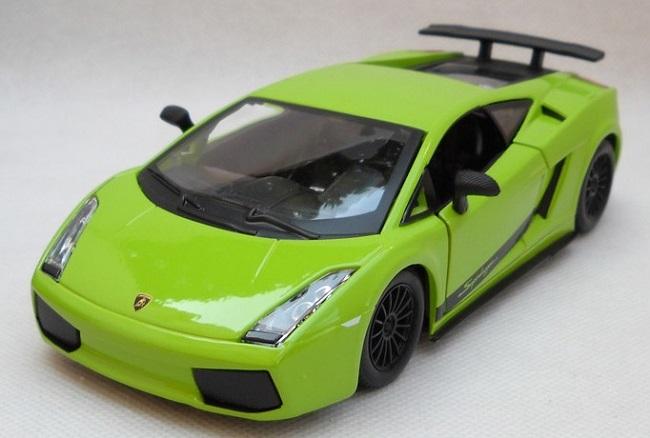 ขาย พรีออเดอร์ โมเดลรถเหล็ก โมเดลรถยนต์ Lamborghini Gallardo Superleggera เขียว 1:24 มีโปรโมชั่น