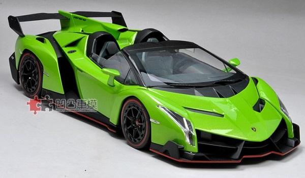 Pre Order โมเดลรถ Lamborghini Veneo เขียว 1:18 รุ่นหายากสุดๆ มีโปรโมชั่น