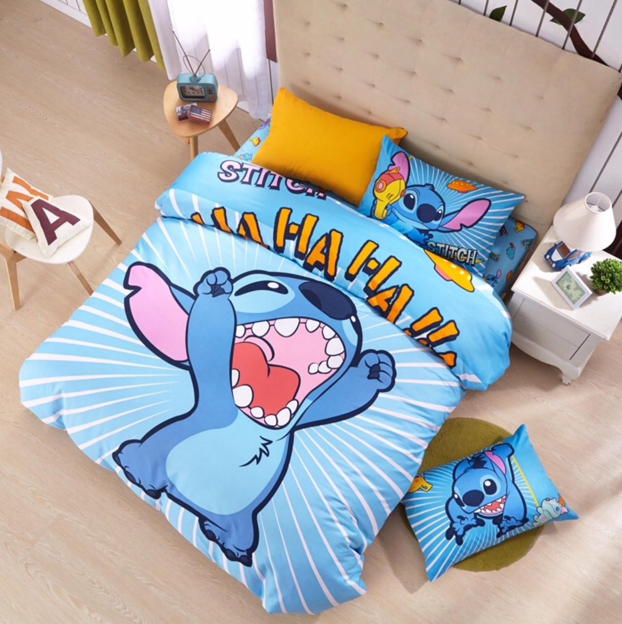 ผ้าปูที่นอนลาย สติช Lilo & Stitch Bedding Set