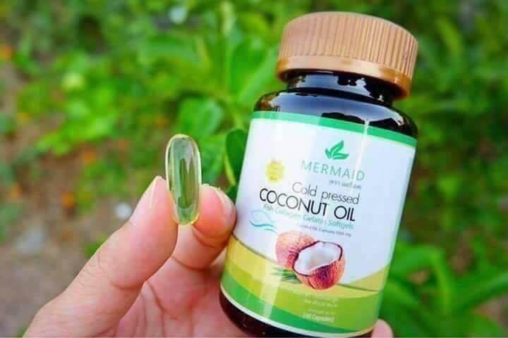 น้ำมันมะพร้าวสกัดเย็น Cold pressed Coconut Oil (Mermaid)