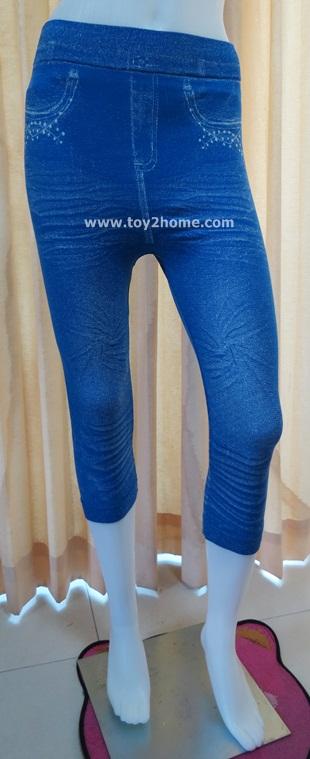 กางเกงเลคกิ้ง 7 ส่วน ผ้า Spendex (สีฟ้า)