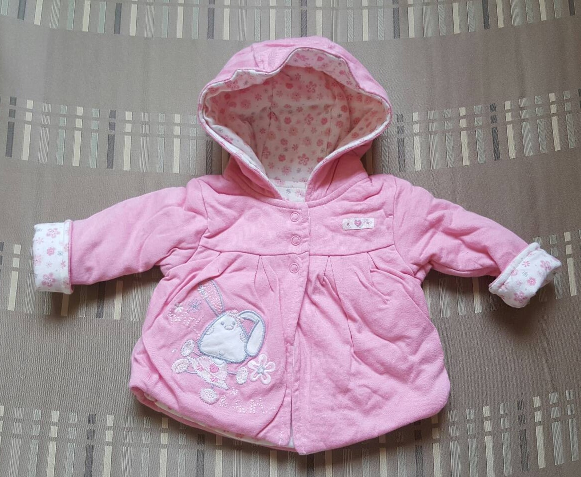 เสื้อกันหนาว แขนยาว มี hood (size 0-3 เดือน)