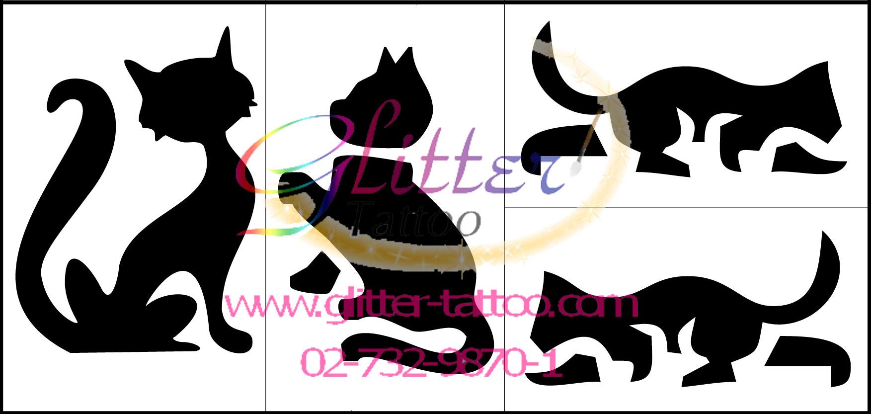 แบบลายแมว 1 (ชุด)