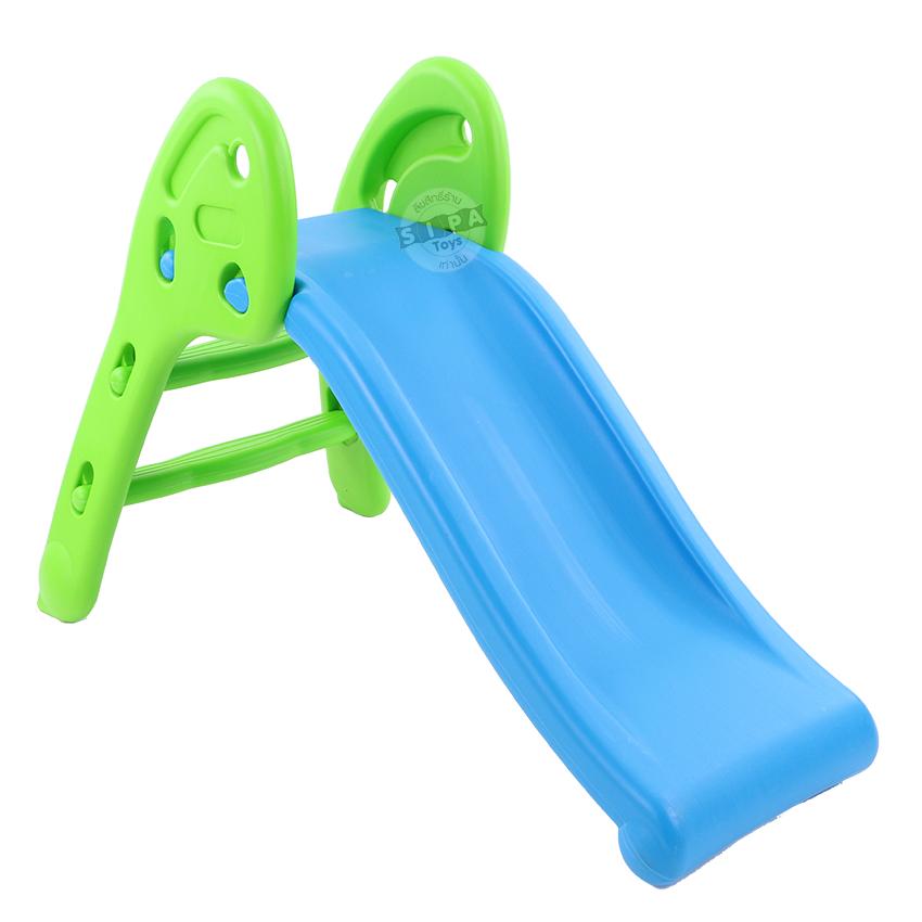 สไลเดอร์เด็ก สีฟ้า-เขียว...Fun Slide ...ฟรีค่าจัดส่ง
