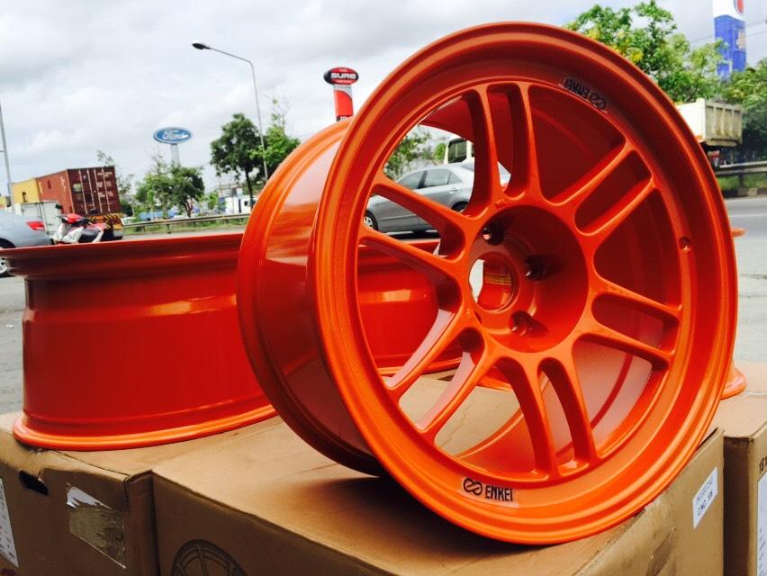 ENKEI RPF-1 งานเหมือนแท้สีส้ม ออฟสุดตารางขอบ18+ยางชุด 25000