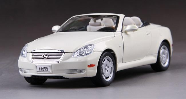 ขาย พรีออเดอร์ โมเดลรถเหล็ก โมเดลรถยนต์ Lexus SC 430 สีขาว 1:24 สเกล มี โปรโมชั่น