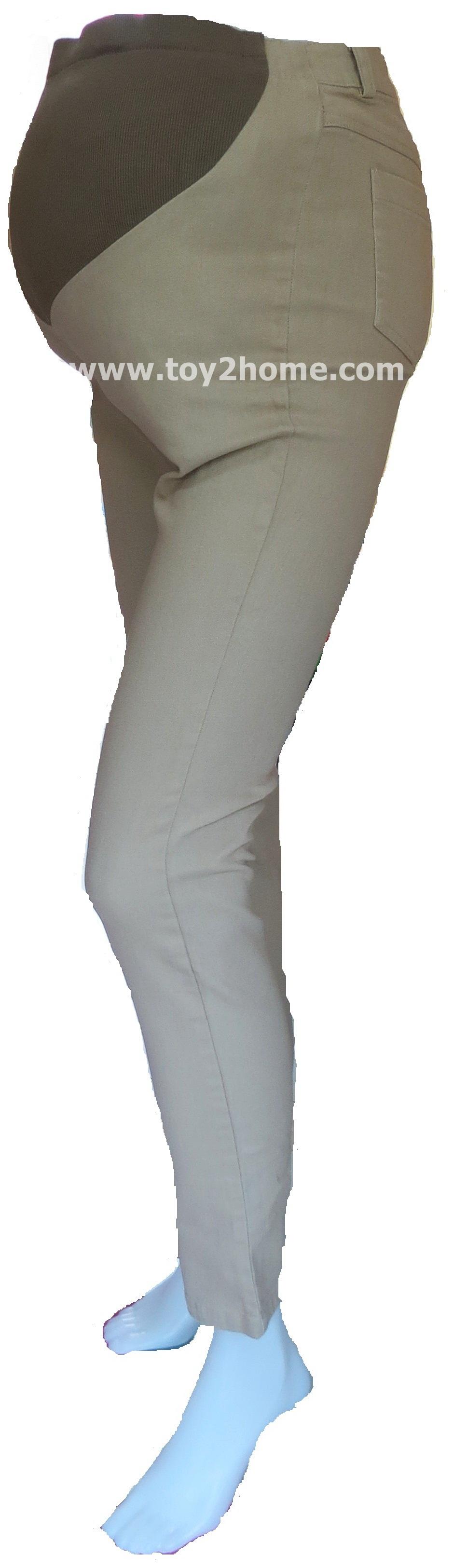 กางเกงคนท้องใส่ทำงาน (สีน้ำตาล) ผ้า SPENDEX ขายาว 9 ส่วน
