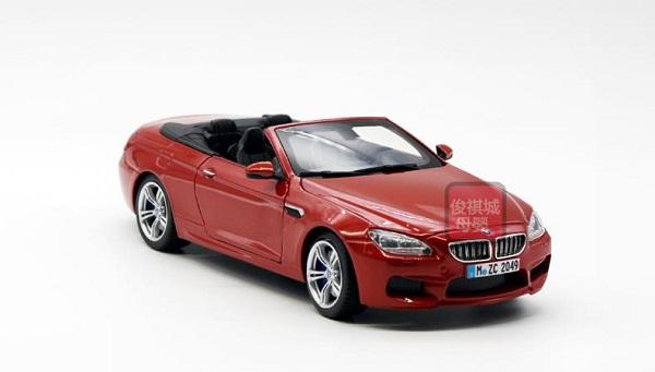 ขาย พรีออเดอร์ โมเดลรถ BMW M6 เปิดประทุน แดง สเกล 1:24 มี โปรโมชั่น