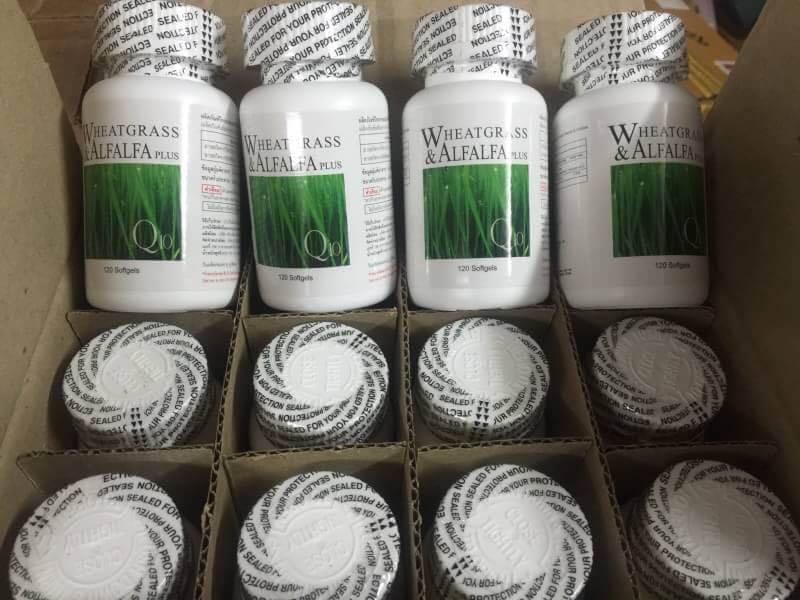 ขายWheatgrass & Alfalfa Q10 วีทกราสและอัลฟัลฟ่าผสมคิวเท็น