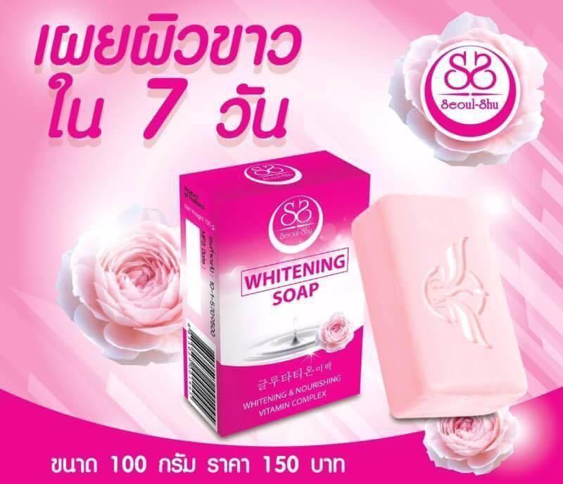 สบู่โซลชู สบู่SeoulShu Whitening Soap