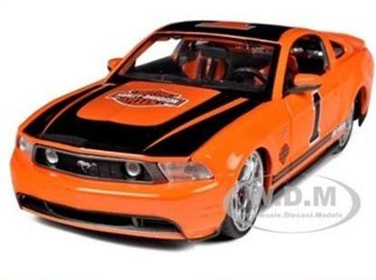 พรีออเดอร์ รถเหล็ก รถโมเดล US 2011 Ford Mustang GT Harley สีส้ม NO1 Special Edition Maisto สเกล 1:24