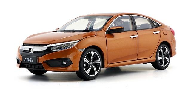 Pre Order โมเดลรถ Honda Civic 2016 ส้มดำ 1:18 รุ่นหายาก งานคุณภาพ มีโปรโมชั่น