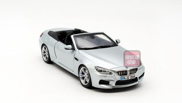 ขาย พรีออเดอร์ โมเดลรถ BMW M6 เปิดประทุน เงิน สเกล 1:24 มี โปรโมชั่น