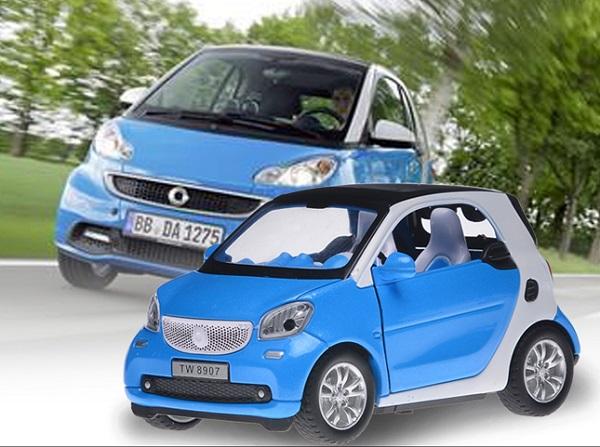 พร้อมส่ง รถโมเดล รถเหล็ก มีไฟมีเสียง Benz Smart 1:32 มี โปรโมชั่น
