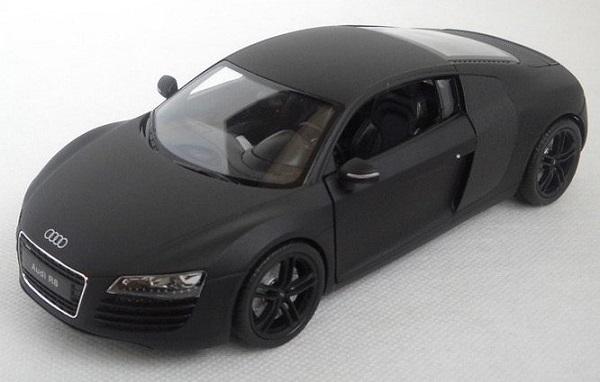 ขาย พรีออเดอร์ โมเดลรถเหล็ก โมเดลรถยนต์ Audi R8 ดำด้าน 1:24 สเกล มี โปรโมชั่น