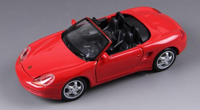 ขาย พรีออเดอร์ โมเดลรถเหล็ก โมเดลรถยนต์ Porsche boxster cabrio แดง 1:24 มี โปรโมชั่น