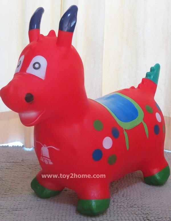 ตุ๊กตายางรูปสัตว์เด้งดึ๋ง รูปมังกรแดง