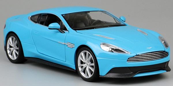 พรีออเดอร์ โมเดลรถเหล็ก โมเดลรถยนต์ Aston Martin Vanquish ฟ้า 1:24 มี โปรโมชั่น