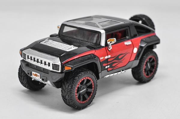 ขาย พรีออเดอร์ โมเดลรถเหล็ก โมเดลรถยนต์ Hummer HX ดำ 1:24 มี โปรโมชั่น