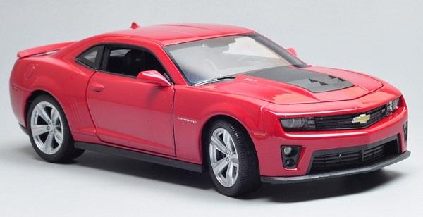 ขาย pre order โมเดลรถยนต์ Chevrolet ZL1 แดง 1:24 มี โปรโมชั่น