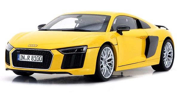Pre Order โมเดลรถ Audi R8 V10 plus coupe เหลือง 1:18 รุ่นหายากสุดๆ มีโปรโมชั่น