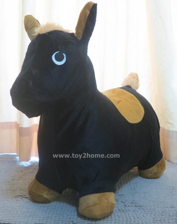ตุ๊กตายางหุ้มผ้า (ถอดได้) รูปม้าดำ