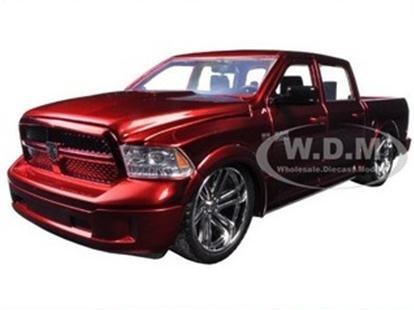พรีออเดอร์ รถเหล็ก รถโมเดล รถกระบะ US 2014 DODGE RAM 1500 CUSTOM EDITION สีแดง Jada สเกล 1:24