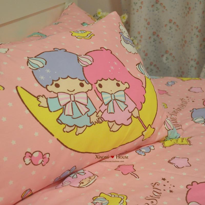 ผ้าปูที่นอน ลายลิตเติ้ล ทวินสตาร์ Little Twin Stars