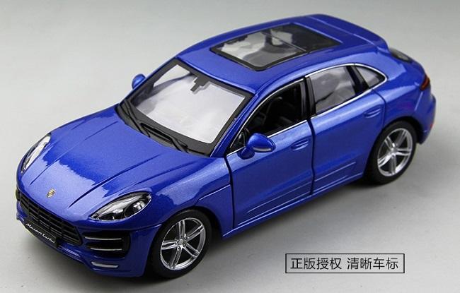 ขาย พรีออเดอร์ โมเดลรถเหล็ก โมเดลรถยนต์ Porsche Macan Blue 1:24 มีโปรโมชั่น
