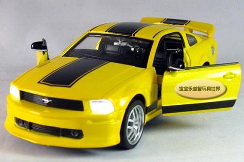 พร้อมส่ง รถโมเดล รถเหล็ก มีไฟมีเสียง Ford Mustang GT 1:32 มี โปรโมชั่น
