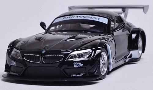 พร้อมส่ง โมเดลรถเหล็ก โมเดลรถยนต์ BMW Z4 GT3 สีดำ มี โปรโมชั่น