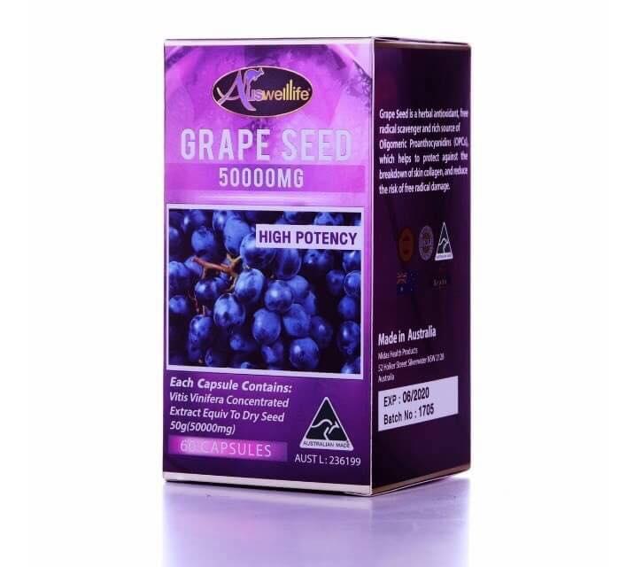 ขายAuswelllife Grape Seed 50000 mg. ออสเวลไลฟ์ เกรป ซีด