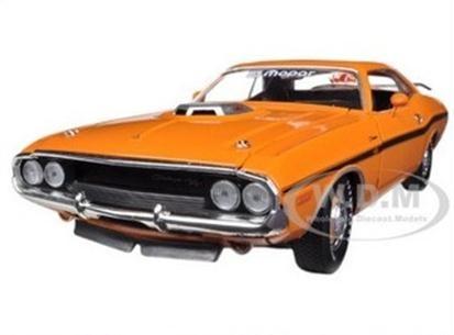 พรีออเดอร์ รถเหล็ก รถโมเดล US 1970 DODGE CHALLENGER RT สีส้ม ฉลอง dodge ครบ 50 ปี สเกล 1:24