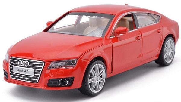 พร้อมส่ง รถโมเดล รถเหล็ก มีไฟมีเสียง Audi A7 1:32 มี โปรโมชั่น