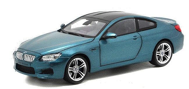 ขาย พรีออเดอร์ โมเดลรถ BMW M6 1:24 สเกล น้ำเงิน เมทาลิค มี โปรโมชั่น