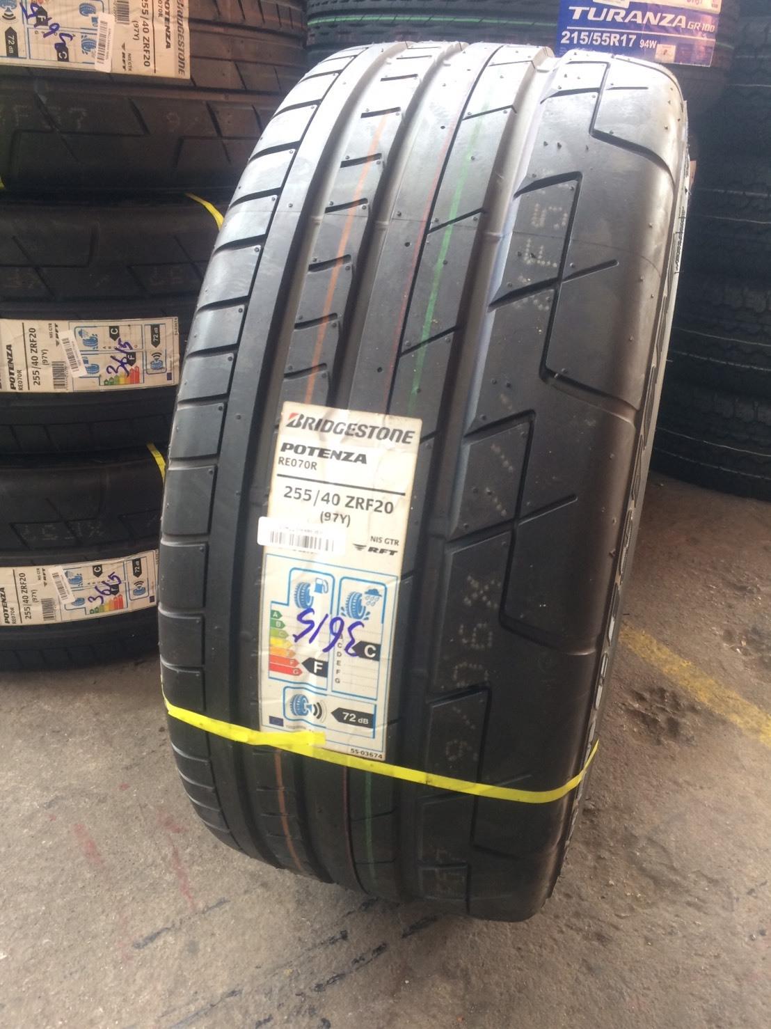Bridgestone Potenza RE070R RFT 255/40-20 เส้น 9500