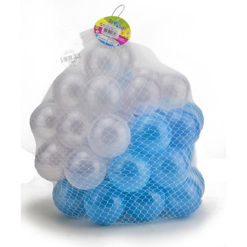 ลูกบอลขนาด 3 นิ้ว จำนวน 50 ลูก(สีขาว-ฟ้า)...ฟรีค่าจัดส่ง