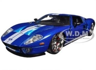 พรีออเดอร์ รถเหล็ก โมเดลรถ US Ford GT Fast & Furious 7 Movie น้ำเงิน สเกล 1:24