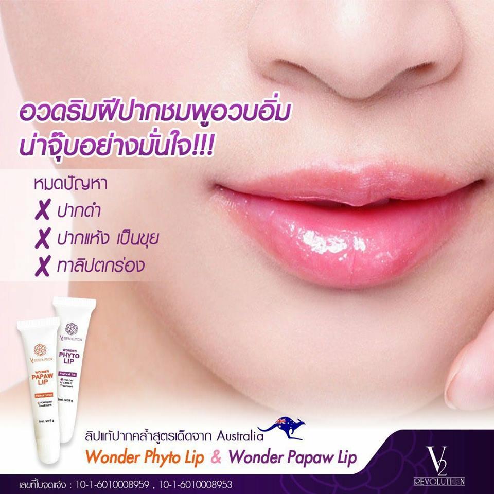 V2 Wonder Phyto Lip & Wonder papaw lip ลิปสติกวีทู