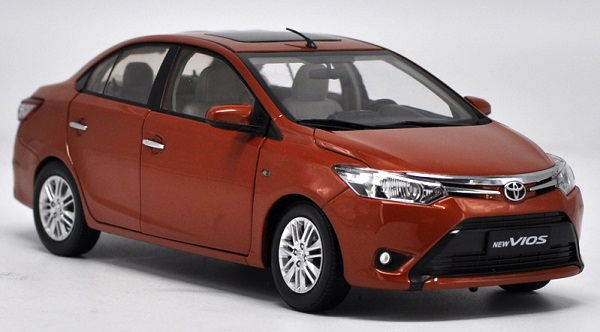 Pre Order โมเดลรถ Toyota New Vios ส้ม สเกล 1:18 งานคุณภาพ หายากมาก มีโปรโมชั่น