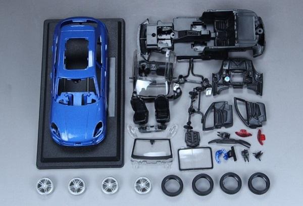 ขาย พรีออเดอร์ โมเดลรถเหล็ก โมเดลรถยนต์ ประกอบ Porsche Macan น้ำเงิน 1:24 สเกล มี โปรโมชั่น